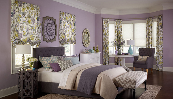 purple bedroom flowers