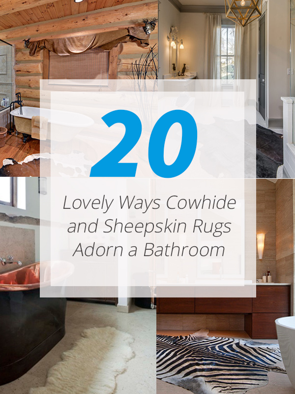 bathroom cowhide sheepskin