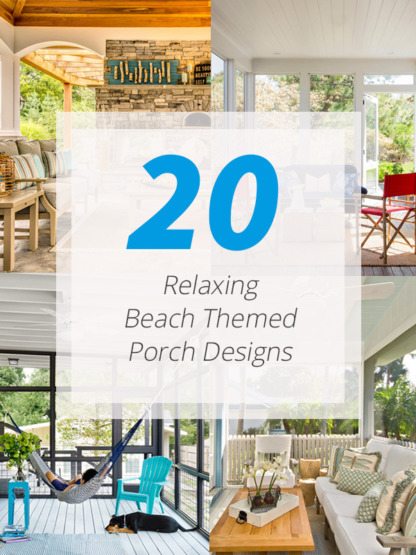 beach themed porch