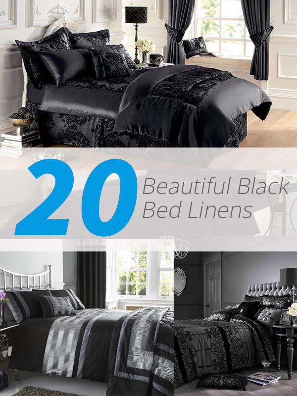 black bed linens