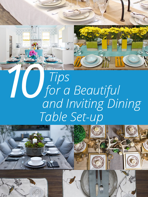 Dining Table Setup Tips