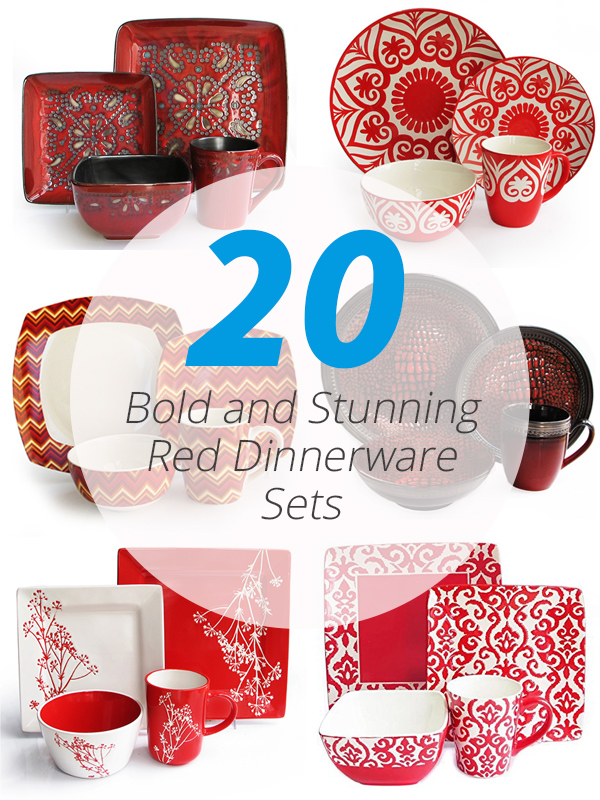 red dinnerware sets