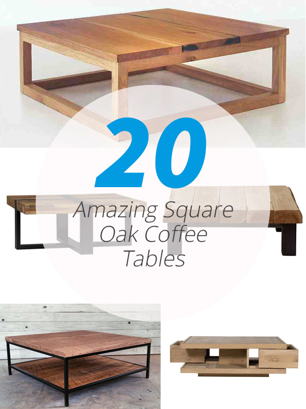 square oak coffee tables