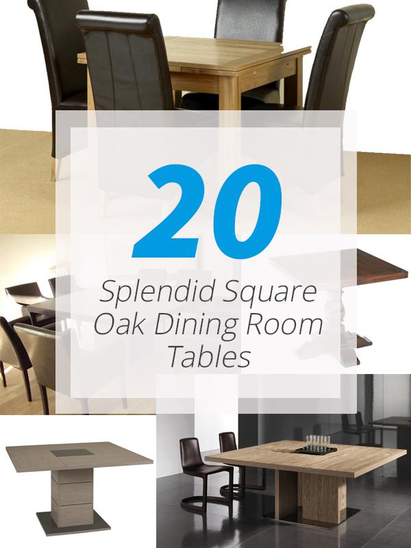 square oak tables