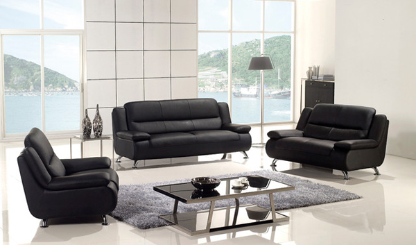 20 Modern Leather Living Room Furniture Home Design Lover