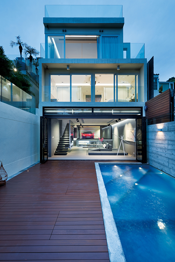 Charming This Is How The Exterior Of The House Looks Like With An Outdoor Pool.  Modern And Minimalist Indeed!