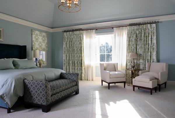 bedroom printed drapes