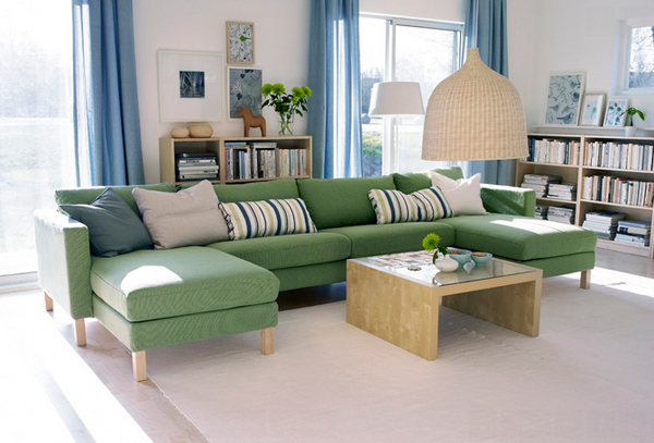 IKEA Living Room Email Save Photo Green Sectional