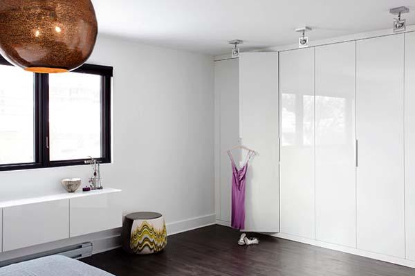 Glossy white wardrobe