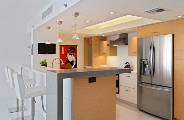20 Dashing and Streamlined Modern Condo Kitchen Designs ...