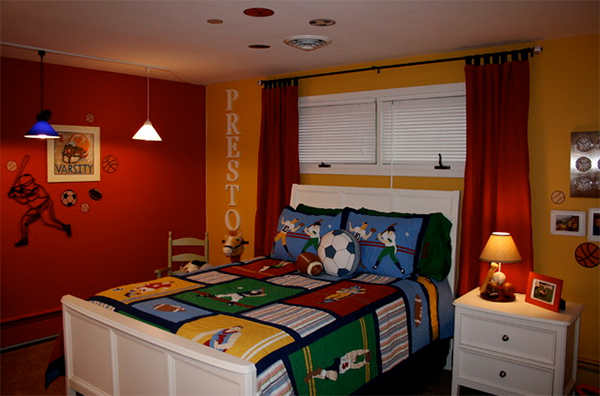 Boys Bedroom letter Idea
