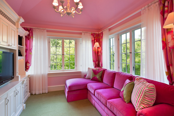 20 Plush Pink Sofa Living Room | Home Design Lover