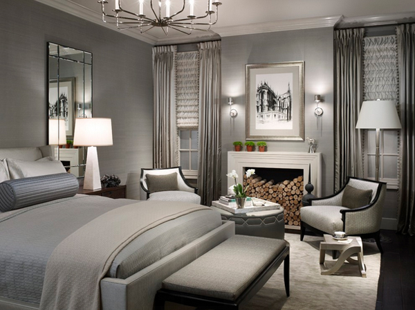 silver accents bedroom