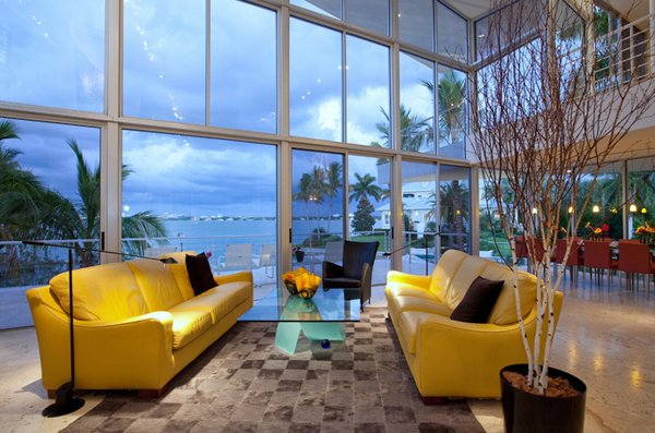yellow sofa designs