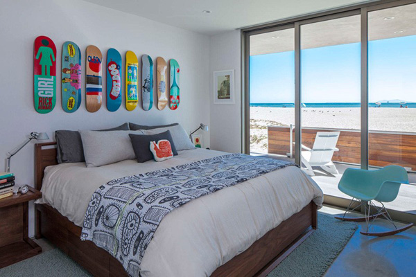 cool beach house bedroom