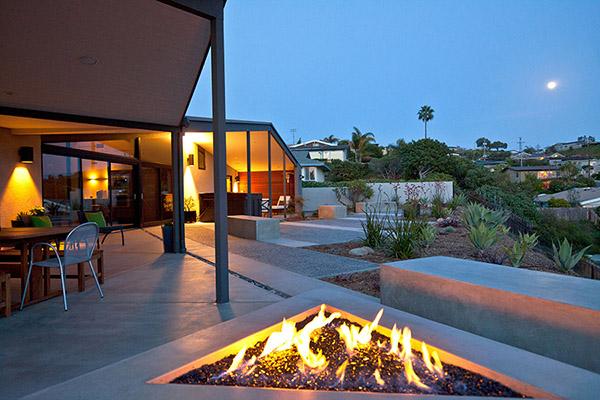 Feuerstelle im Freien
