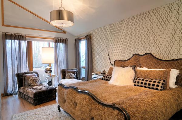 Modern bronze bedroom
