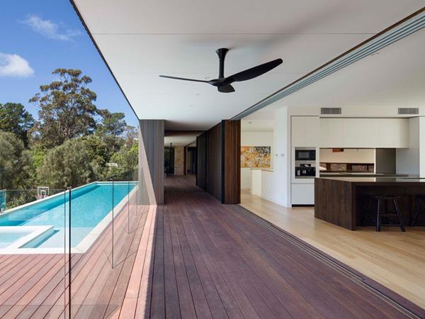 pool wood plank