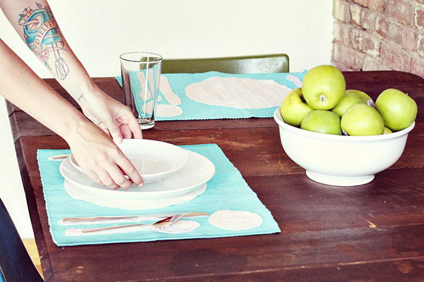 PLACE SETTING PLACEMAT DIY