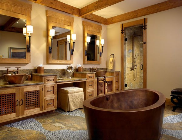 rustic bathtub - Rustic Bathroom