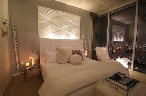 elegant bed lighting