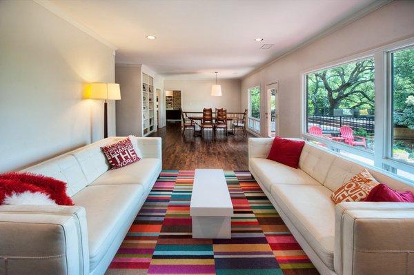 colorful area carpet