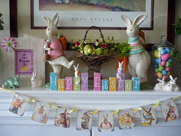 20 Vibrant Diy Easter Themed Mantel Designs Home Design