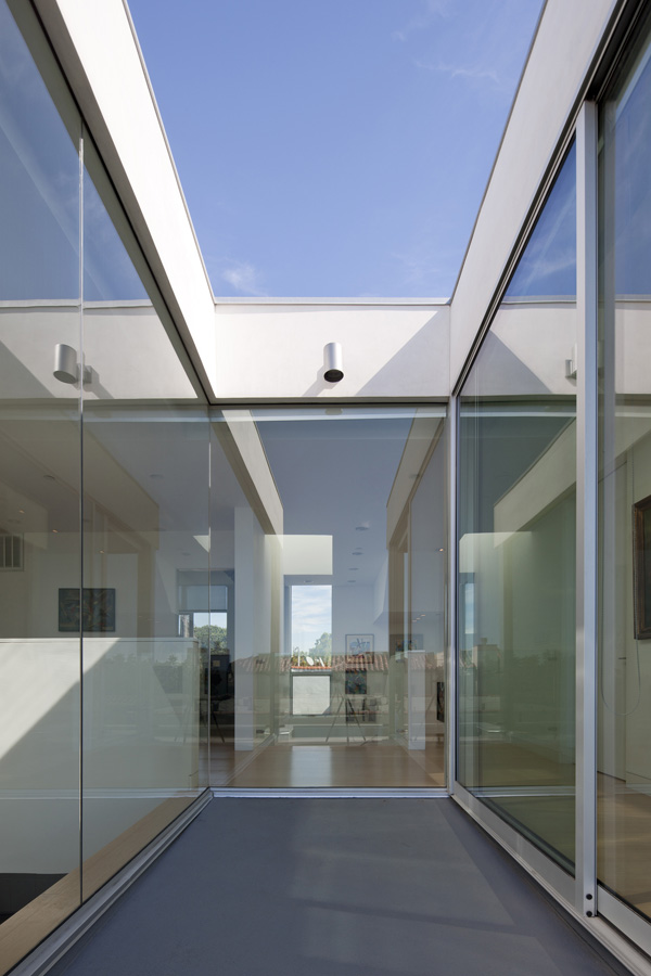 glass wall and ceiling