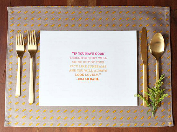 Quote Placemats