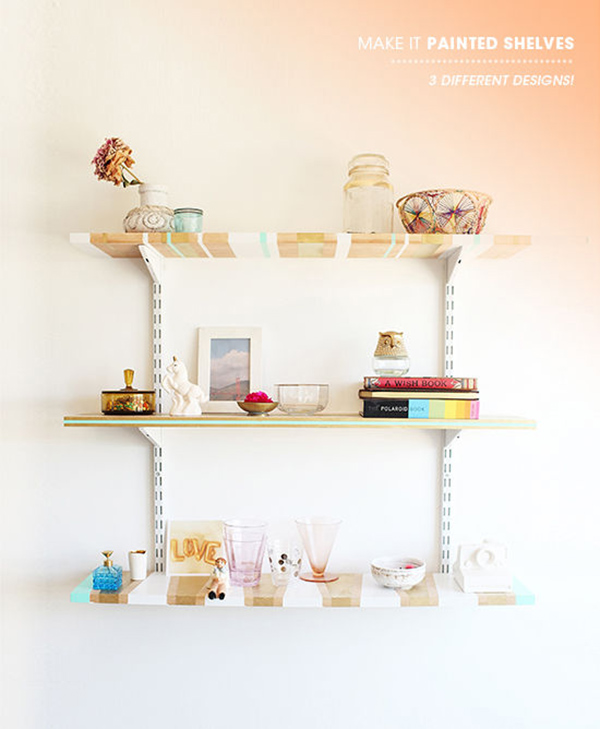 glossy white shelf