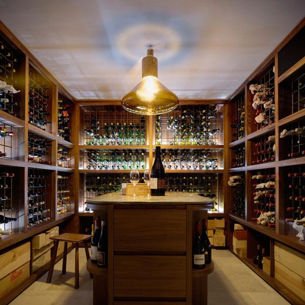 wine cellar area