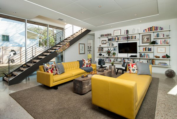 20 Gorgeous Yellow Sofa Living Room | Home Design Lover