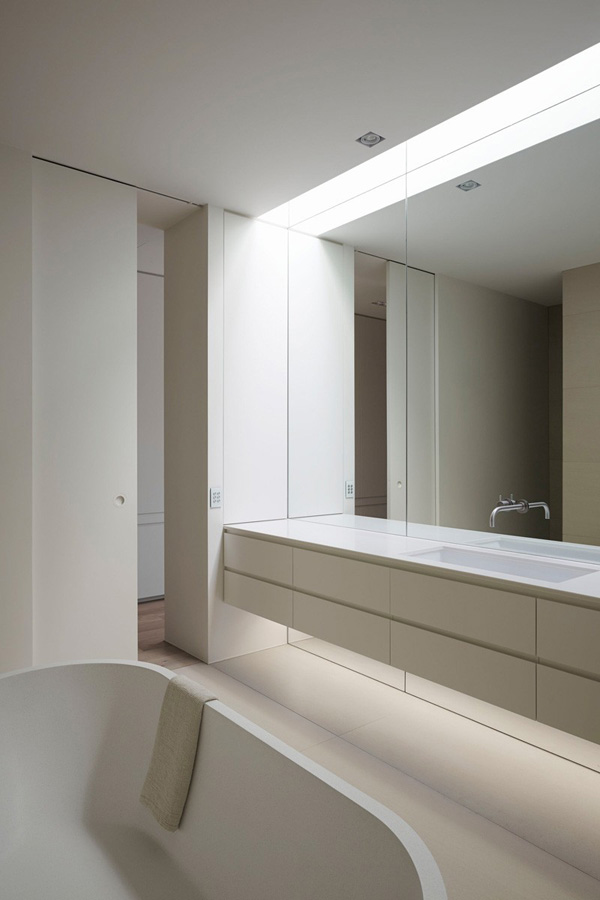 large mirror bathroom