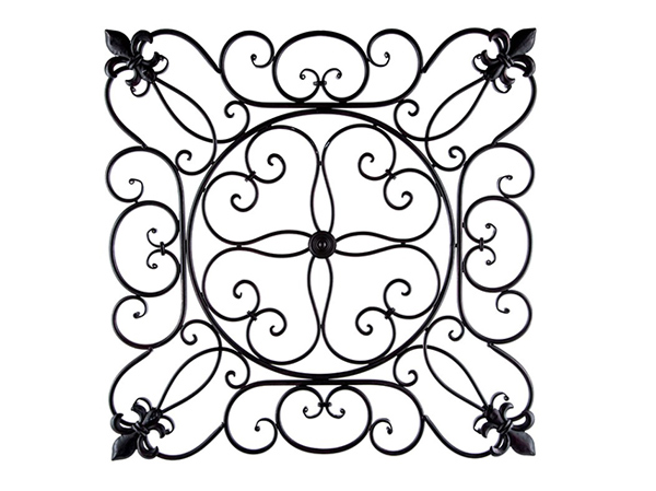 Black Fleur De Lis Metal Wall Decor