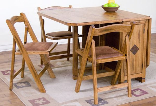 Sedona Rustic Oak Five Piece Dinette Set