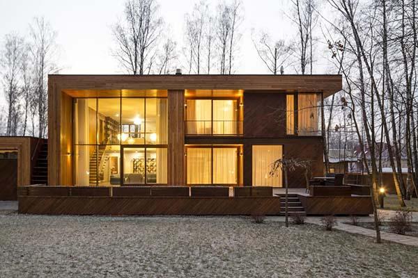 Haus im Birkenwald