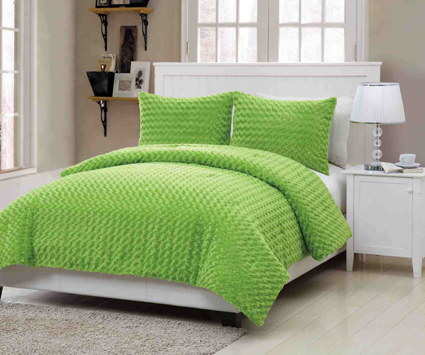 green pillow case