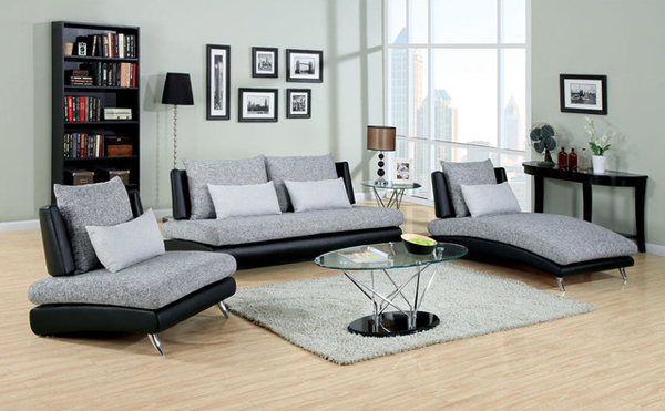 black and grey seating