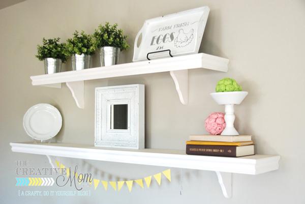 DIY Cafe Shelves