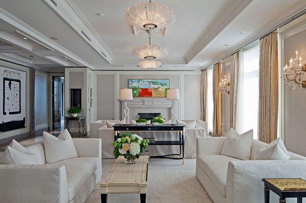 clean white home