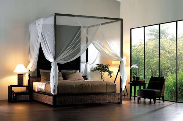 contemporary canopy bedroom