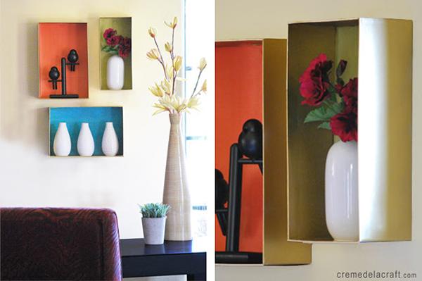 DIY Wall Shelves From A Shoebox