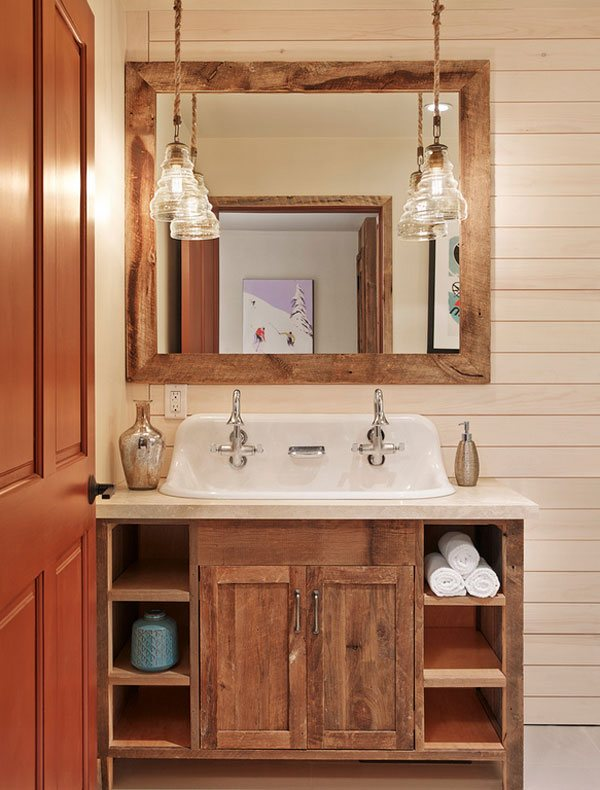 pendant lighting Rustic Vanity