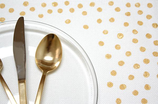 Gold Confetti Placemats