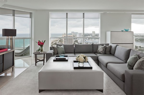 custom gray sectional sofa