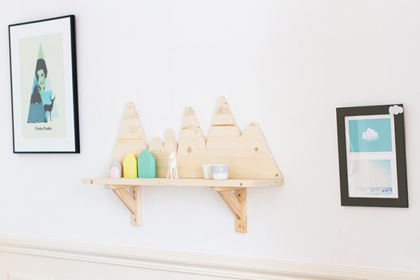 DIY Mountain Wall Shelf