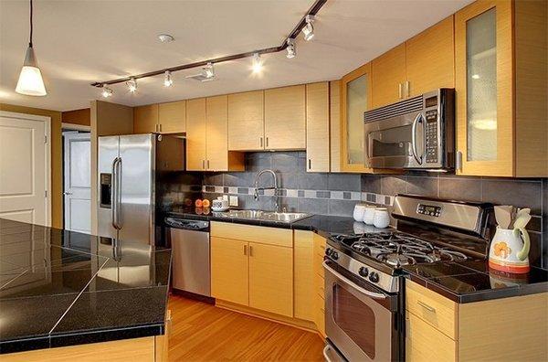 angled kitchens