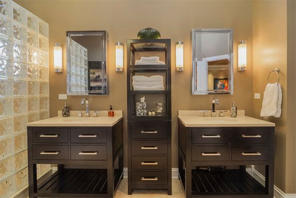 center bathroom linen cabinet furniture
