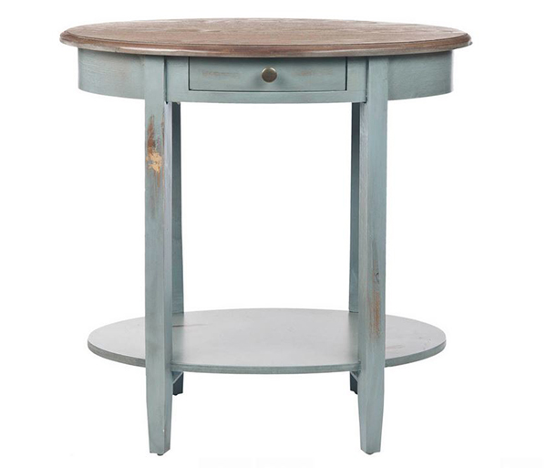 Oval shabby chic End Tables
