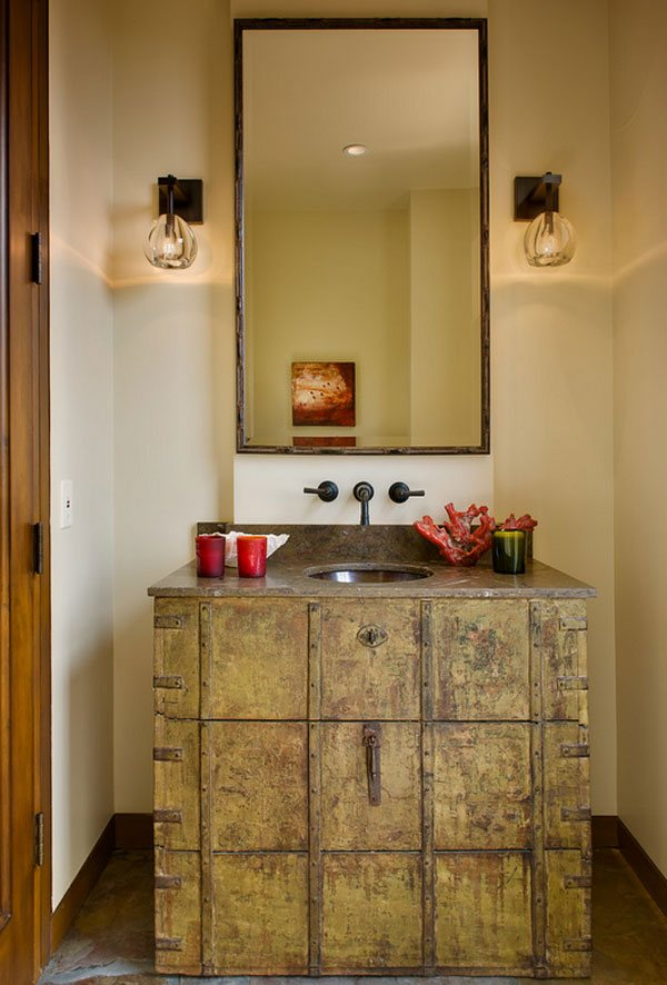 powder room Rustic